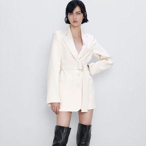 Zara NWT belted blazer jacket